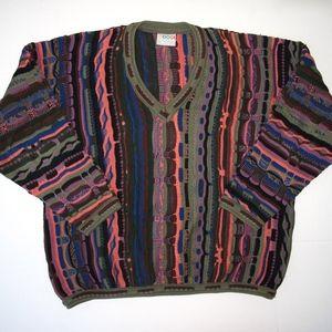 COOGI Australia 1XL XL Sweater Cotton Multi Color